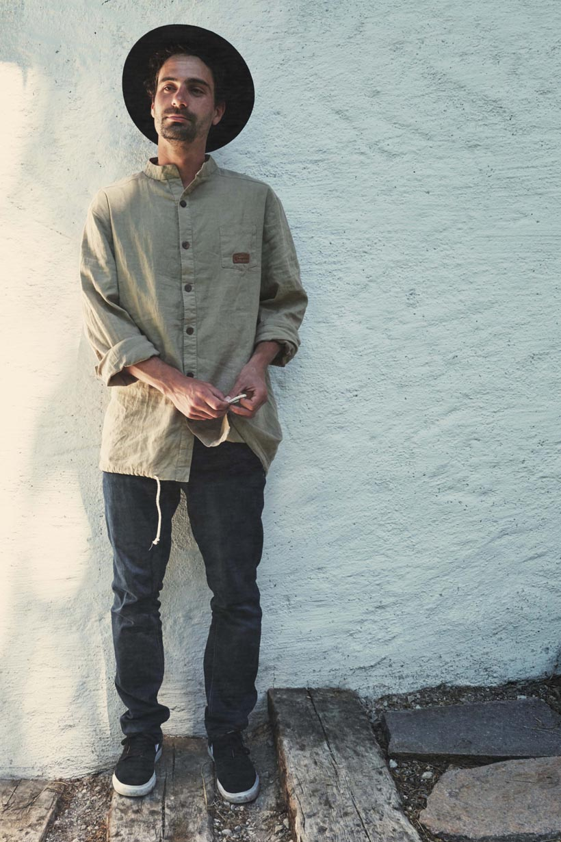 Indiaenshirt Male sand by WOODYBUNCH