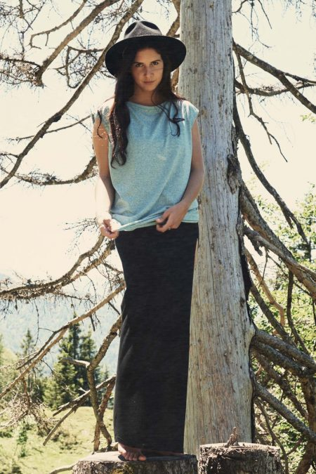 Long Skirt Female black von WOODYBUNCH
