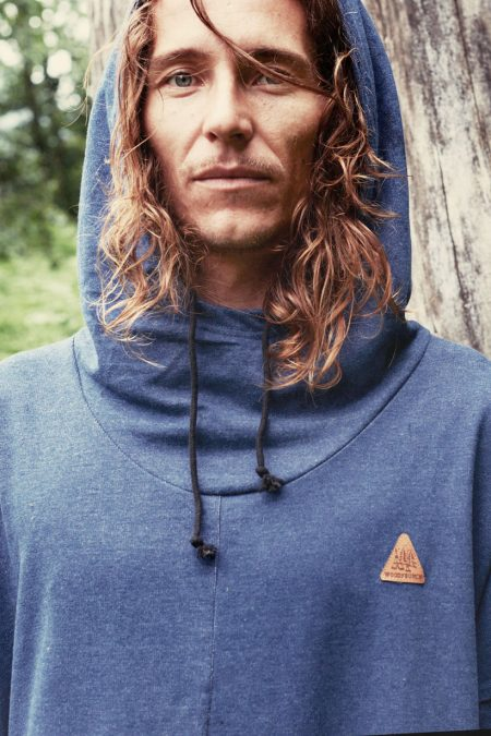 Waterfallhoody Male denim von WOODYBUNCH