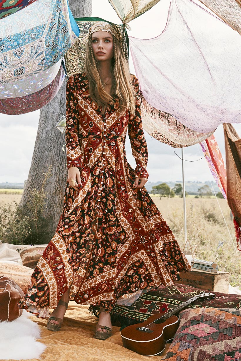 Lolita Gown rust by SPELL & THE GYPSY COLLECTIVE - Woodybunch
