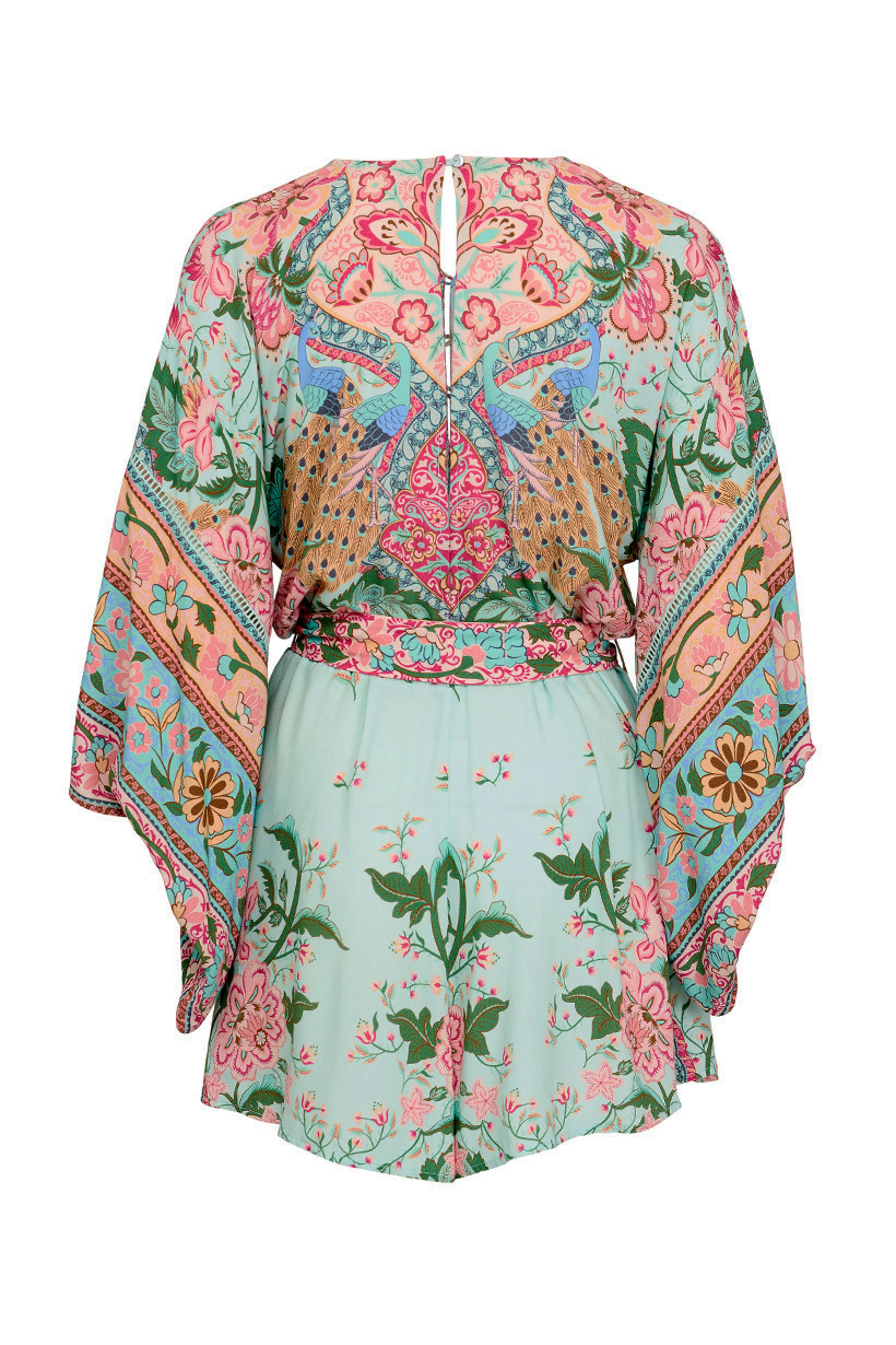 Lotus Kimono Romper Peacock By Spell The Gypsy Collective Woodybunch I Am Cotton Hippie Blue Lightbox