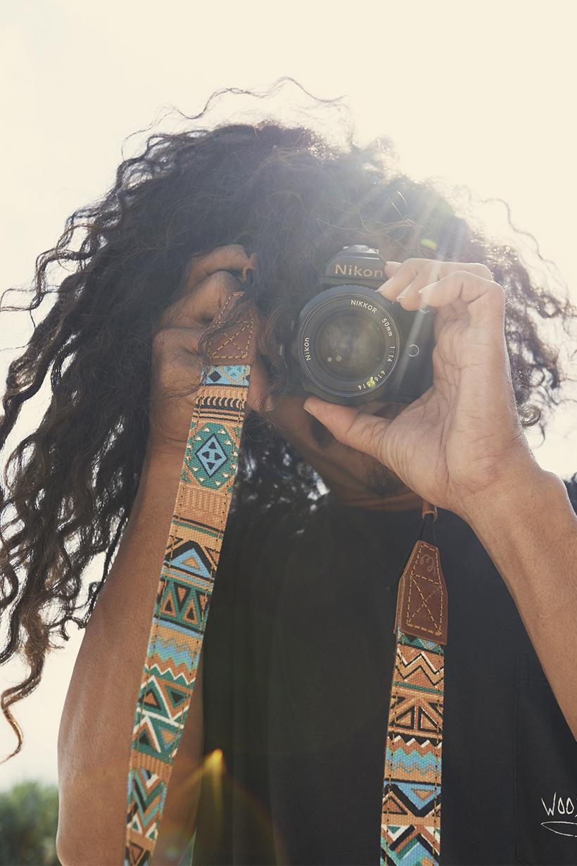 camera strap multicolor by WOODYBUNCH