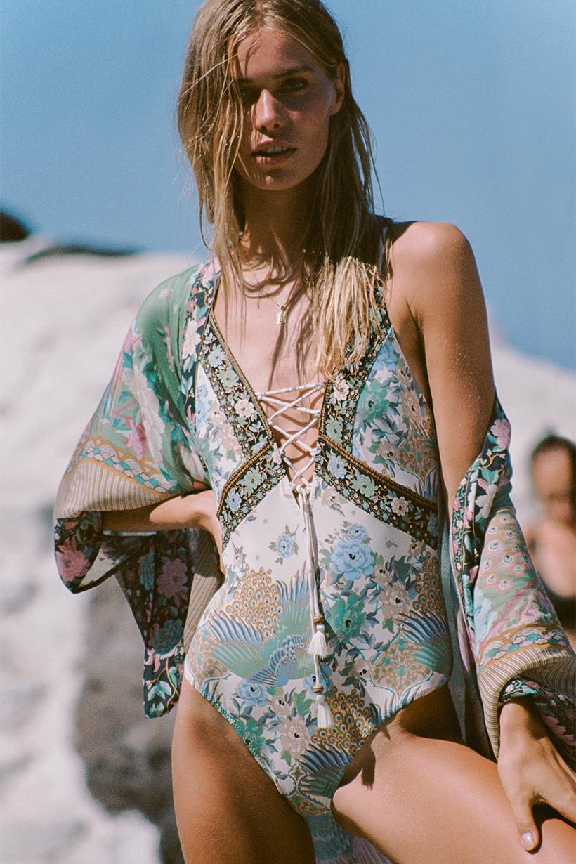 92c542750e8 Cloud Dancer Maxi Kimono sage by SPELL & THE GYPSY COLLECTIVE