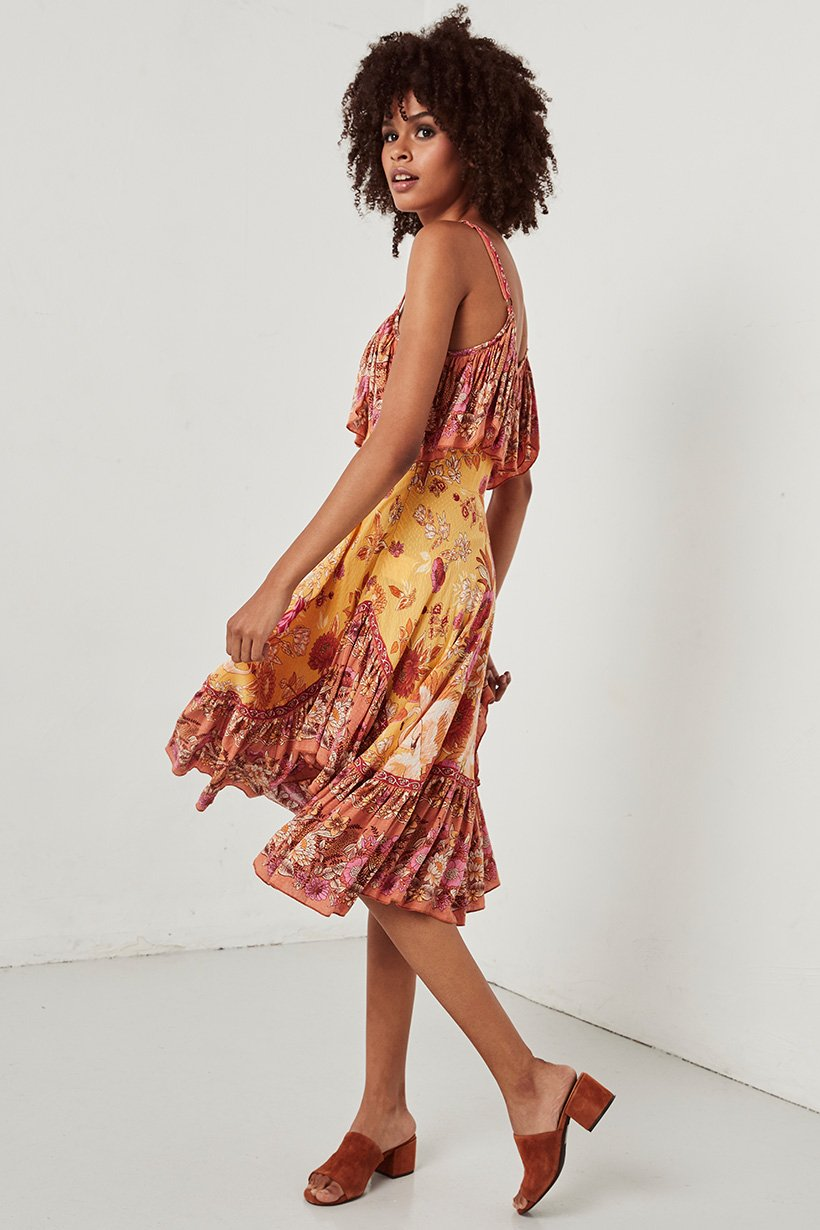dc44af8aa Siren Song Strappy Dress marigold by SPELL   THE GYPSY COLLECTIVE ...