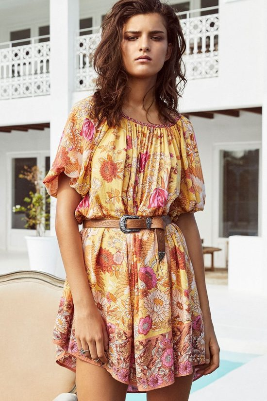 Siren Song Smock Dress marigold by SPELL & THE GYPSY COLLECTIVE