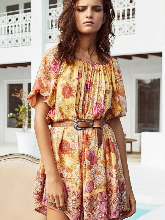 7d1e01cba9 Siren Song Smock Dress marigold by SPELL   THE GYPSY COLLECTIVE ...