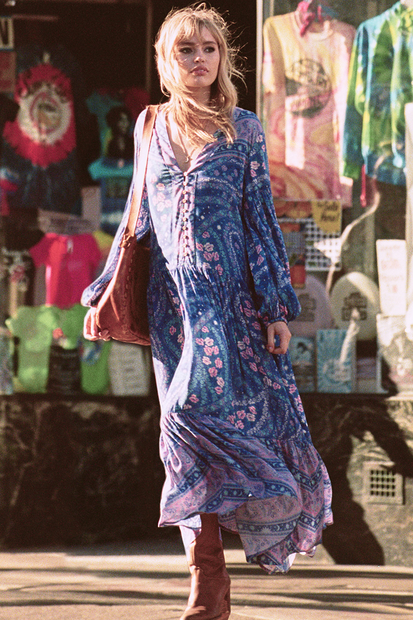f2d00880c1b City Lights Gown indigo by SPELL & THE GYPSY COLLECTIVE - Woodybunch