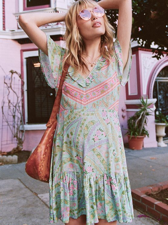 5fb4ec2f3a0 City Lights Mini Dress sage by SPELL & THE GYPSY COLLECTIVE - Woodybunch