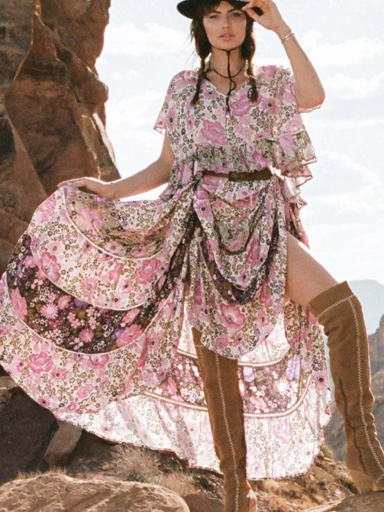 82d60f59788 Desert Daisy Maxi Skirt lilac by SPELL   THE GYPSY COLLECTIVE ...