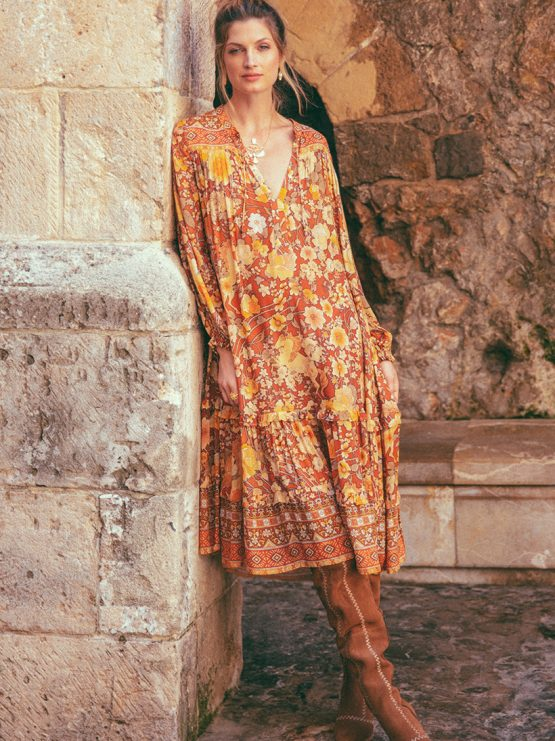 1b3090f504 Amethyst Boho Dress amber by SPELL   THE GYPSY COLLECTIVE - Woodybunch