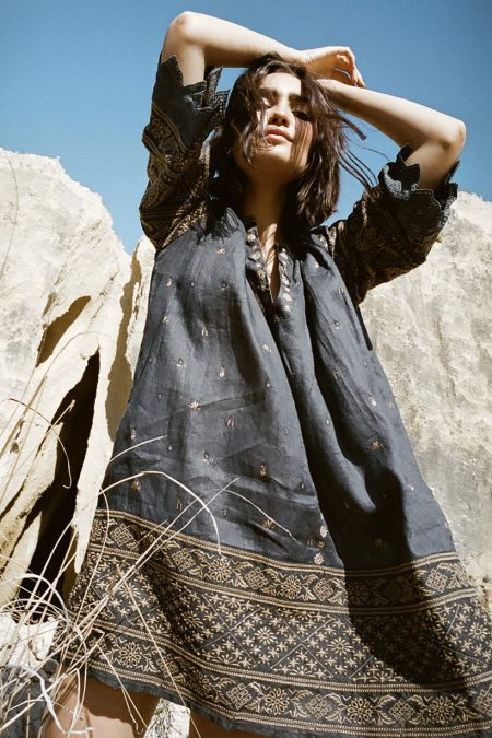 Muwala Embroidered Tunic shadow von SPELL & THE GYPSY COLLECTIVE