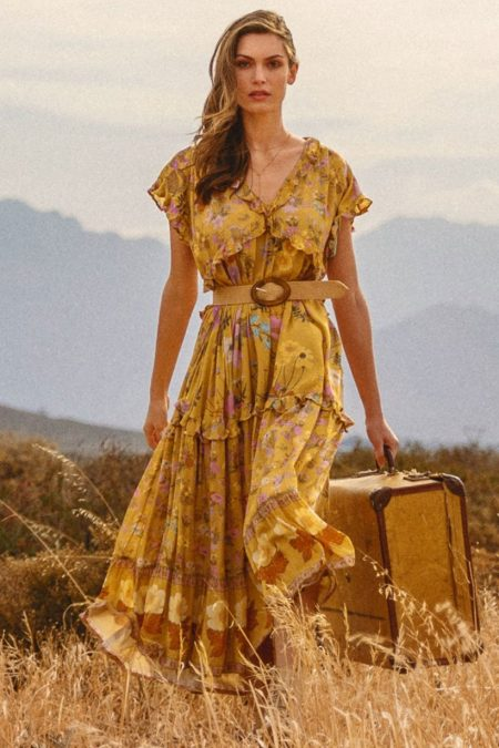 Wild Bloom Gown mustard von SPELL & THE GYPSY COLLECTIVE