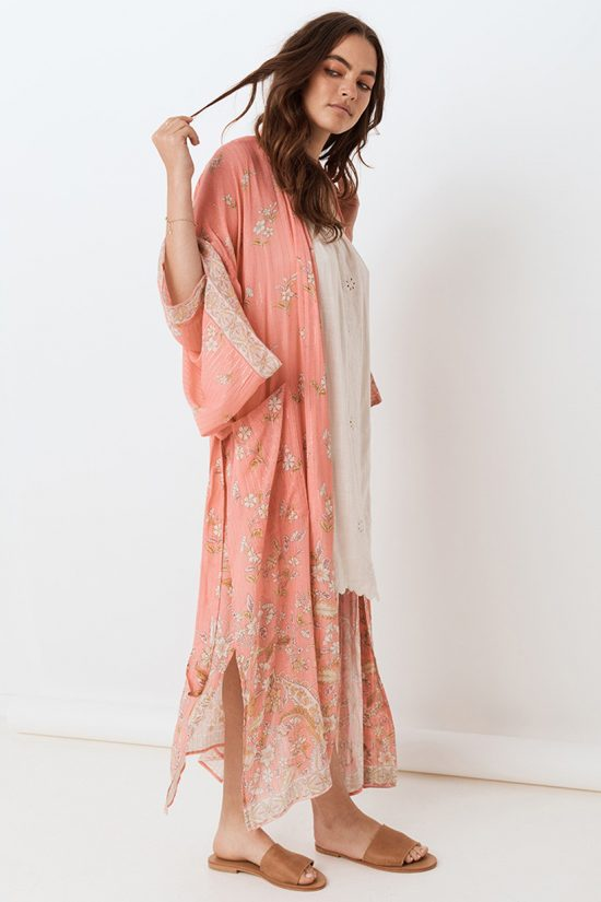 Spell Hendrix Robe dusty pink