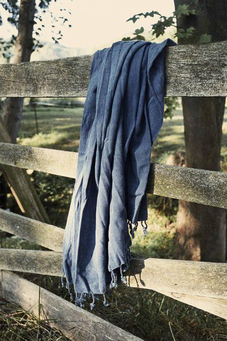 Hamamtuch Lale jeansblau von HAMAMISTA