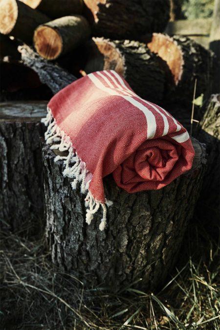 Hamamtowel XXL Leyla red by HAMAMISTA