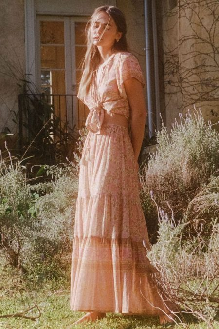 Love Story Maxi Skirt peach blossom von SPELL & THE GYPSY COLLECTIVE