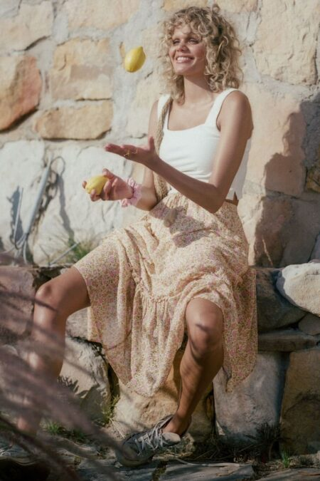 Rae Midi Skirt daisy yellow von SPELL & THE GYPSY COLLECTIVE