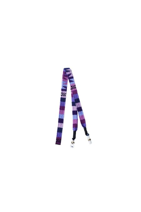 Mask holder woven purple by MARYSAL