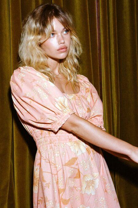 Sloan Soiree dress peach by SPELL