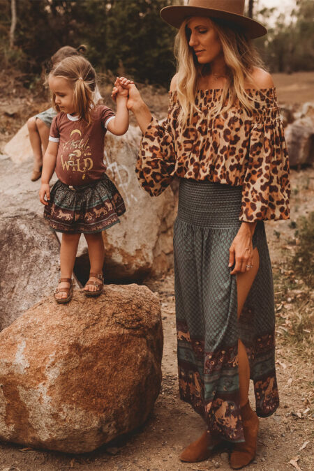 Panthera Forest Ladies Split Skirt forest von CHASING RIVERS