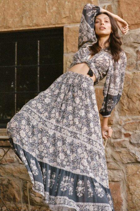 Juniper Maxi Skirt charcoal by SPELL