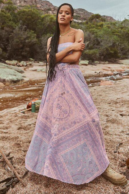 Farrah Half Moon Skirt lilac von SPELL